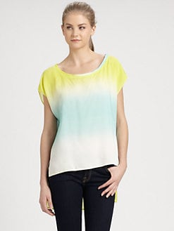 ADDISON - Marion Hi-Lo Print Top
