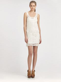 ADDISON - Eden Crocheted Shift Dress