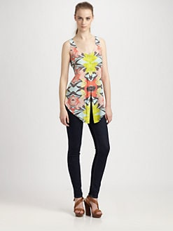 ADDISON - Flint Silk Tank Top