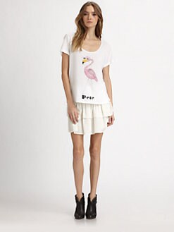 The Man Repeller x PJK - Adriana Flamingo-Print Tee