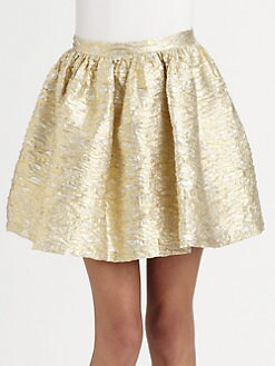 The Man Repeller x PJK - La Verne Metallic Fit-&-Flare Skirt
