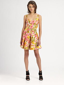 The Man Repeller x PJK - Kimmy Silk Fit-&-Flare Dress