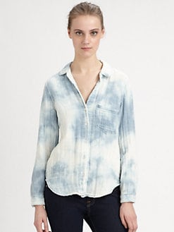 Bella Dahl - Tie-Dyed Denim Shirt
