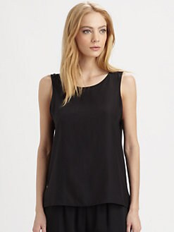 Parker - Raven Open-Back Silk Tank