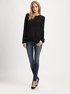 Parker - Canyon Studded-Back Blouse