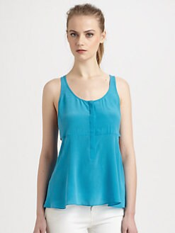 ADDISON - Ramsay Silk Cutout Top