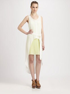 ADDISON - Conoly Convertible Silk Hi-Lo Dress