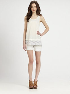 Clu - Lace-Trim Jersey Tank