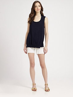Clu - Lace-Trim Terry Shorts