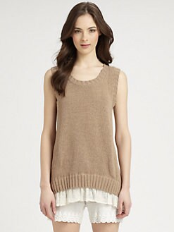 Clu - Sleeveless Split-Back Sweater