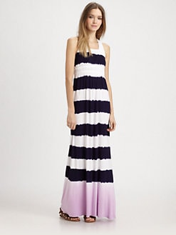 Design History - Striped Jersey Maxi Dress