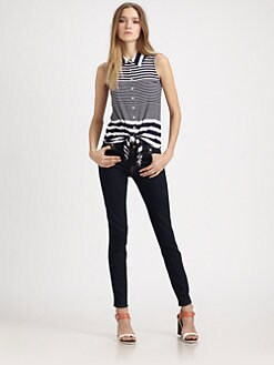Design History - Striped Tie-Waist Blouse