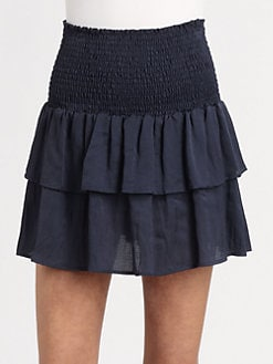 The Man Repeller x PJK - Bunny Smocked Convertible Skirt