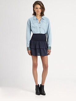 The Man Repeller x PJK - Bunker Beaded Chambray Shirt