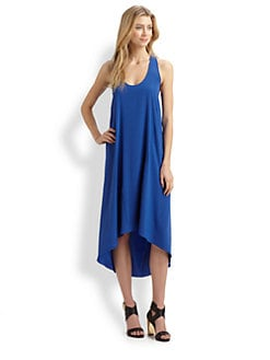 Ramy Brook - Rebecca Hi-Lo Stretch-Silk Dress
