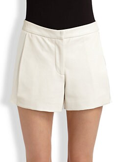 Ramy Brook - Eddie Leather & Silk Shorts