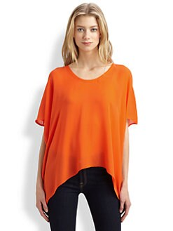 Ramy Brook - Marissa Silk Crop-Front Tee