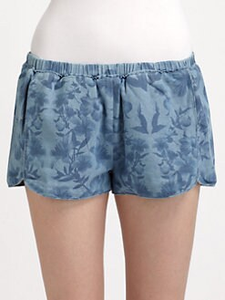 Stylestalker - Replicant Floral Chambray Shorts