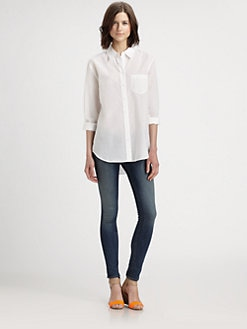 Equipment - Reese Cotton Boyfriend Shirt