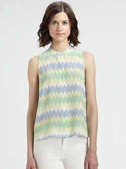 Equipment - Mara Silk Zig-Zag Top