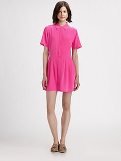 Equipment - Naomi Silk Oversized Shirtdress