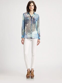 Equipment - Slim Signature Silk Shirt