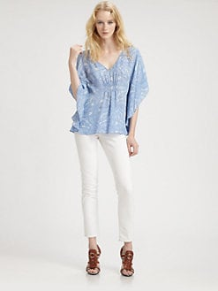 ADDISON - Lace Print Top