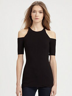 Bailey 44 - Cutout-Shoulder Stretch-Jersey Top