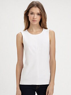 Bailey 44 - Draped Silk-Back Top