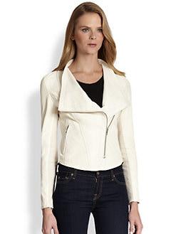 Mackage - Draped-Collar Leather Jacket