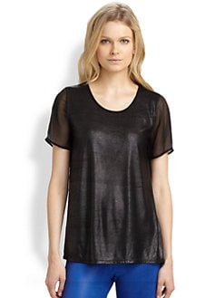 AIKO - Monica Silk-Trim Top