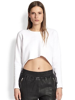 OAK - Draped-Back Hi-Lo Sweatshirt