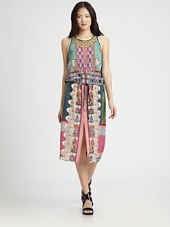 Clover Canyon - Printed Front-Slit Dress