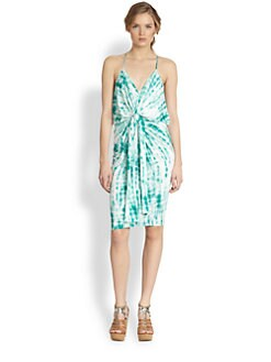 T-bags Los Angeles - Tie-Dyed Draped Knot Dress