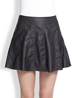 Townsen - Rookie Perforated Faux-Leather Skirt