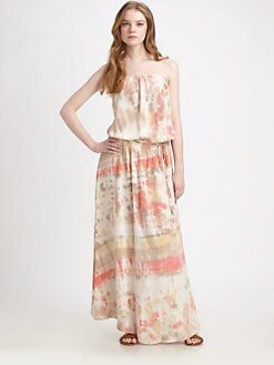 Gypsy 05 - Strapless Tie-Dye Maxi Dress