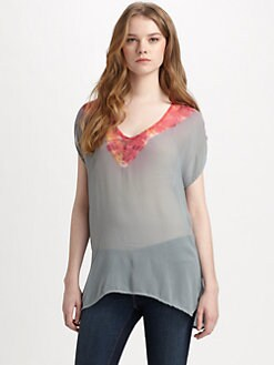 Gypsy 05 - Tie-Dye V-Neck Top