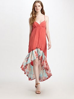 Gypsy 05 - Tie-Dye Asymmetrical Maxi Dress