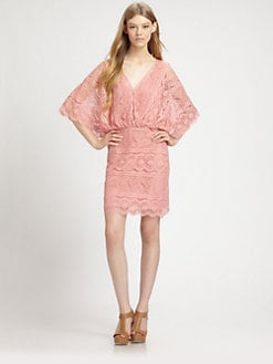 Beyond Vintage - Bell-Sleeve Lace Dress