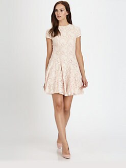 Torn - Cristal Lace Fit-&-Flare Dress