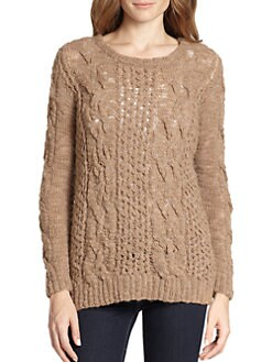 Augden - Open-Weave & Cable-Knit Sweater