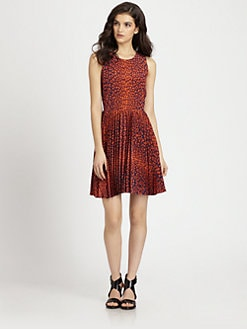 Wren - Pleated Cutout Dress