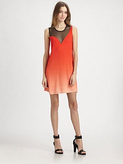 AIKO - Odiele Ombre Mesh-Trim Dress