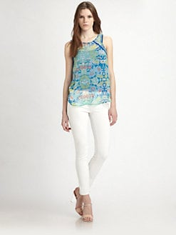 Ella Moss - Floral Lei Silk Top