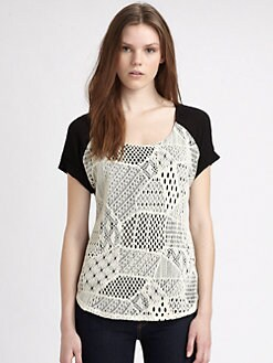 Ella Moss - Lily Crocheted Lace Top