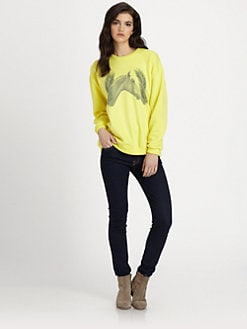 LNA - Horse-Print Sweatshirt