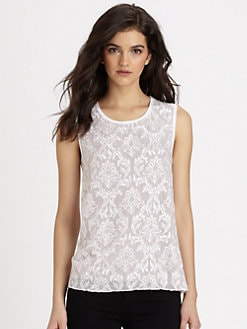 Bailey 44 - Marrakesh Embroidered Silk & Jersey Top