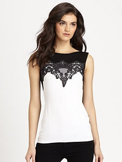 Bailey 44 - Temara Lace-Paneled Jersey Top