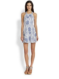 Parker - Leona Lace-Print Halter Dress