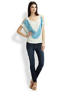 Gypsy 05 - Tie-Dye Open-Shoulder Top